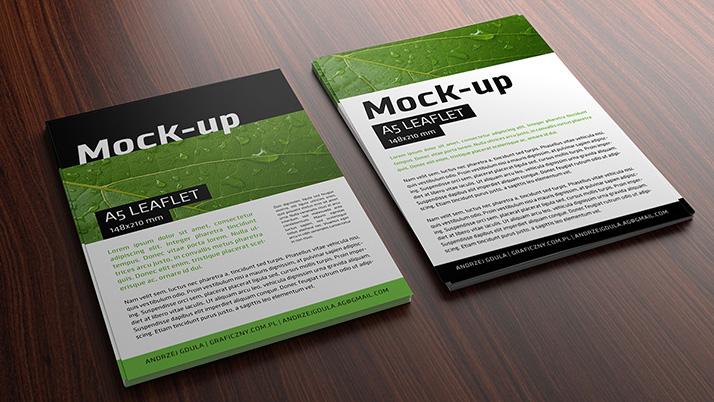 Free leaflet mockup