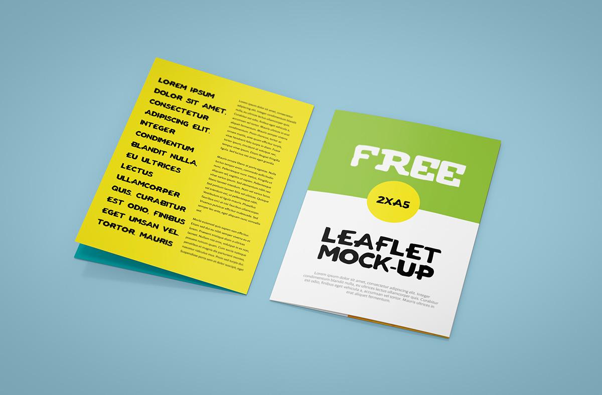 Bi-Fold Leaflet Mock-up