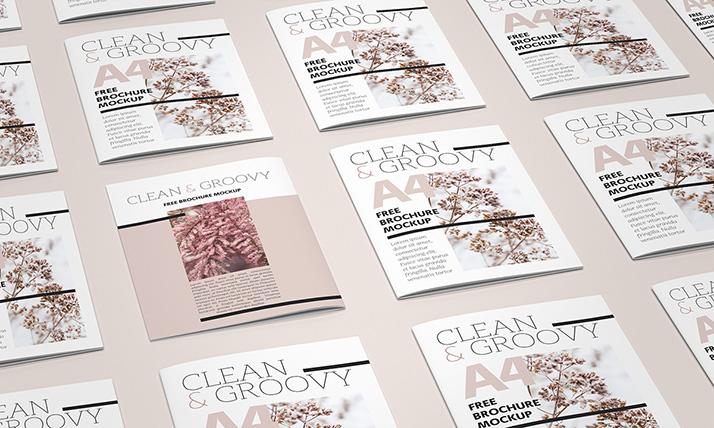 Free A4 brochure / Catalog mockup