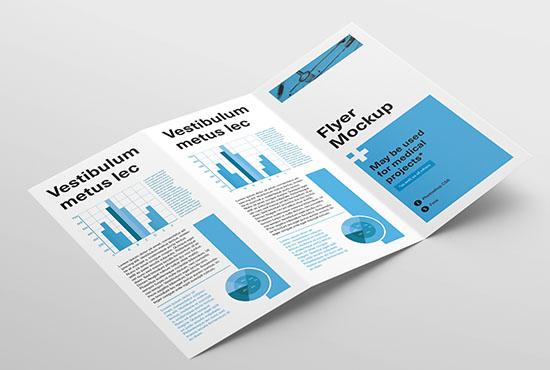 Tri Fold Flyer mockup - Mockups Design | Free Premium Mockups