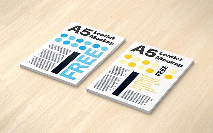 Free A5 Leaflet Mockup