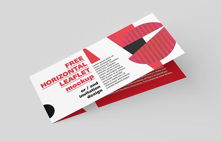 Free horizontal DL Leaflet Mockup