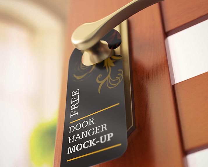 Free door hanger mockups