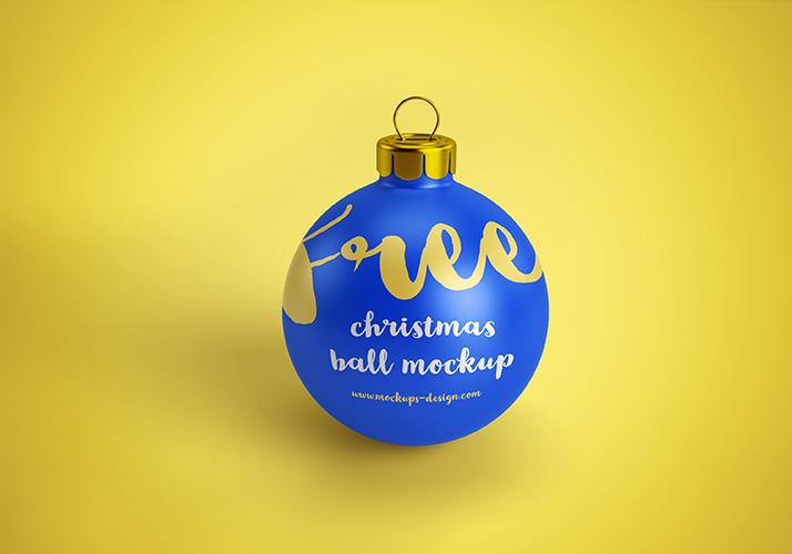 Free christmas ball mockups