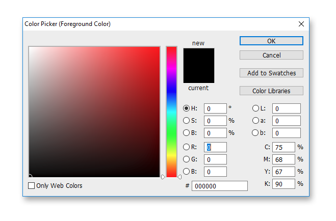 Background color selection