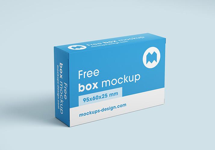 Free box mockup / 95x60x25 mm