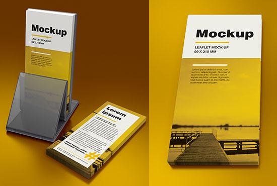 DL leaflet holder mockup