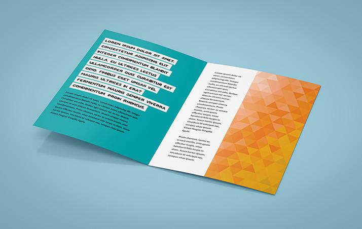 Leaflet mockup / A5 / Bi-Fold