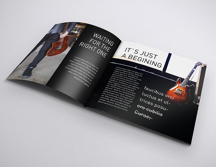 Free square brochure mockups