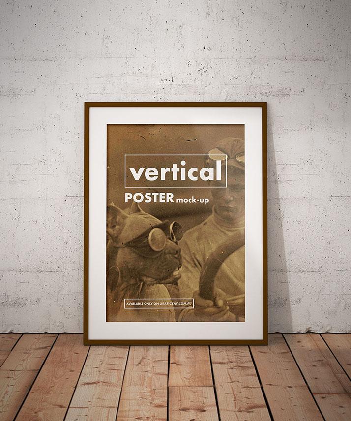 Vintage posters frame mockup - Mockups Design | Free Premium Mockups
