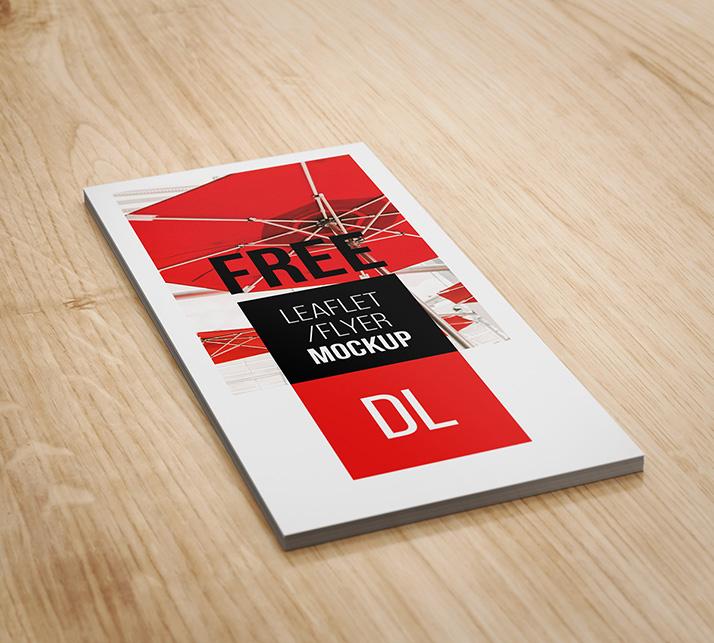 Free DL flyer mockup