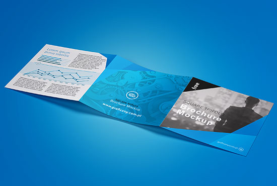 Clean and minimalistic trifold square brochure