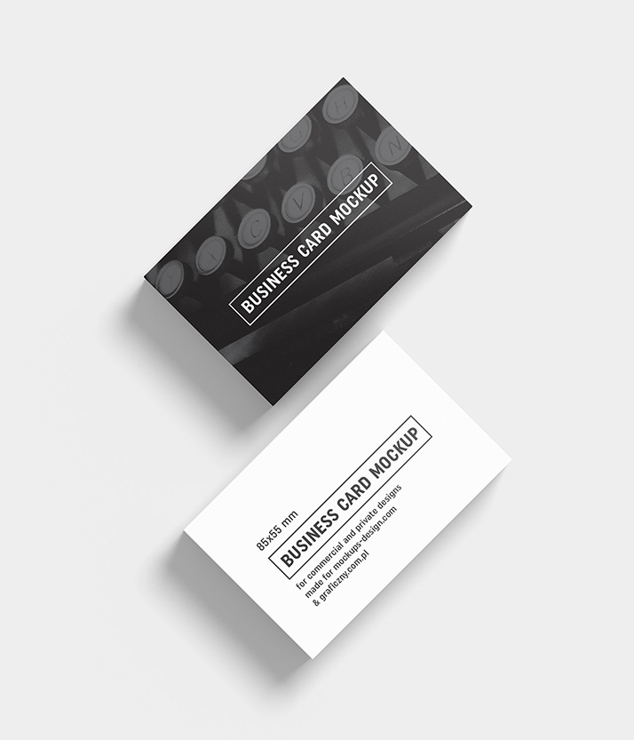 Business cards mockup / 85x55 mm - Mockups Design | Free Premium Mockups