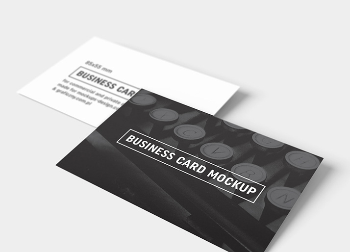Business cards mockup / 85x55 mm