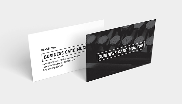 Business Cards Mockup 85x55 Mm