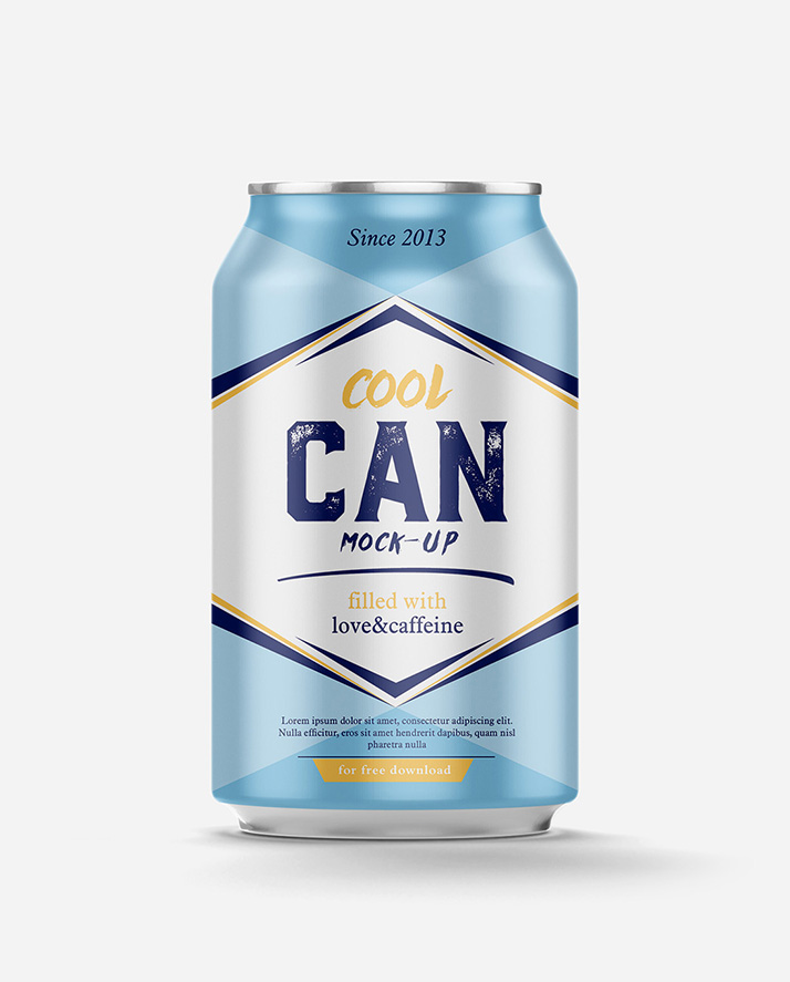 Free can mockup