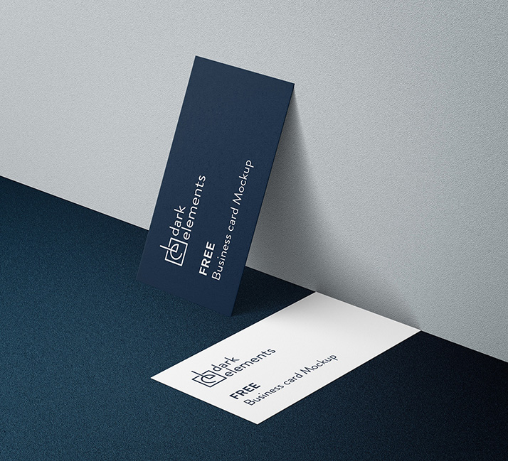 Dark Elements / Business card mockup