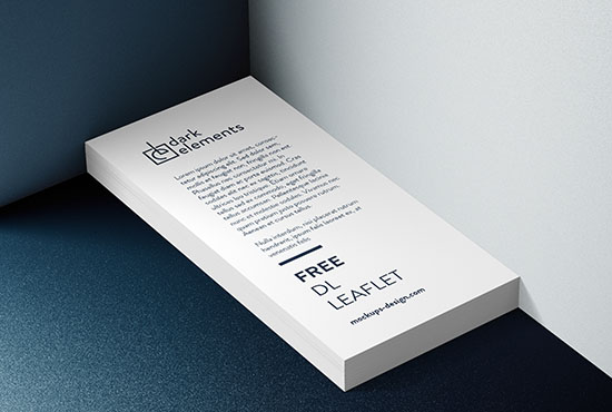 Dark Elements / DL Leaflet mockup