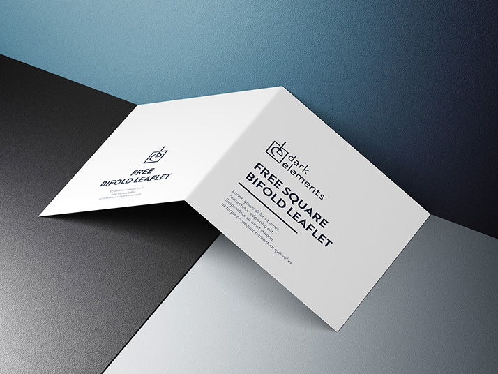Dark Elements / Square bifold leaflet cover