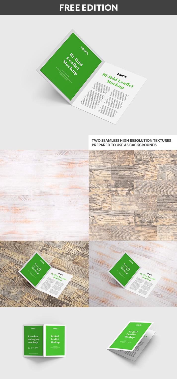 Bi Fold Leaflet mockup