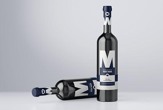 Free winde bottle mockup