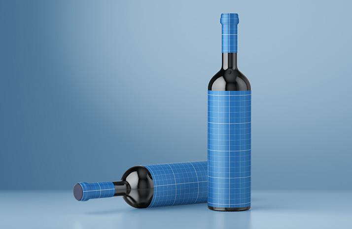 Free wine mockup