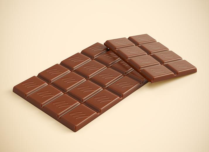 Free chocolate mockup