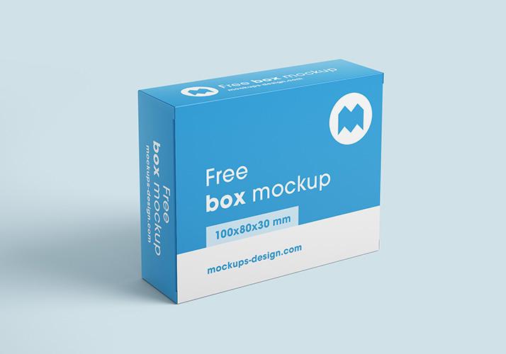 Free box mockups /100x80x30 mm