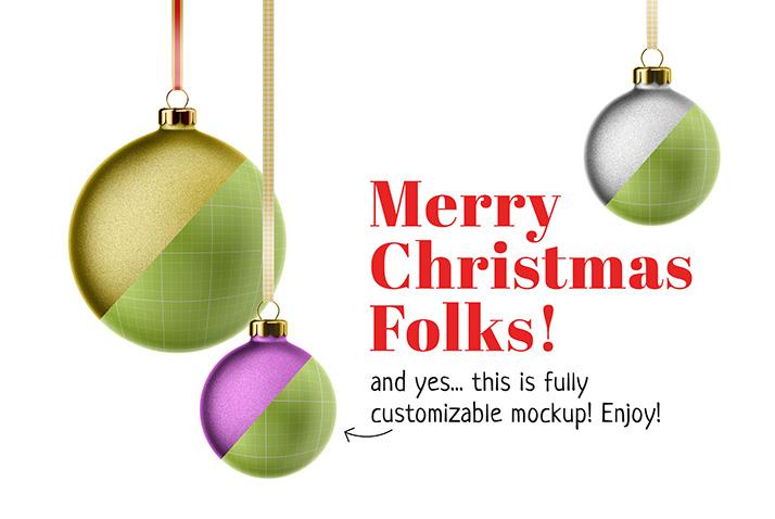 Free christmas card mockup