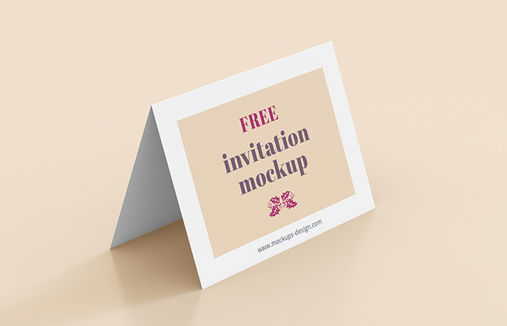 Free invitation mockup