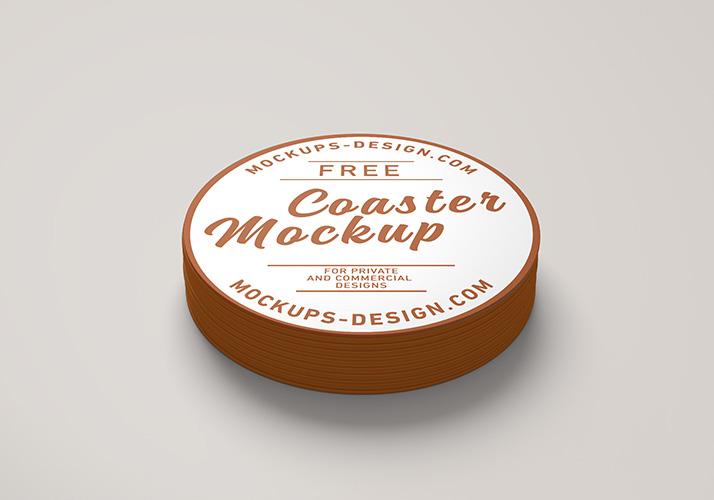 Free coaster mockup