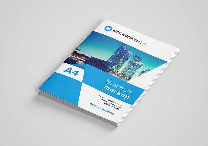 Free a4 brochure mockup mockups design free premium for Brochure design mockup