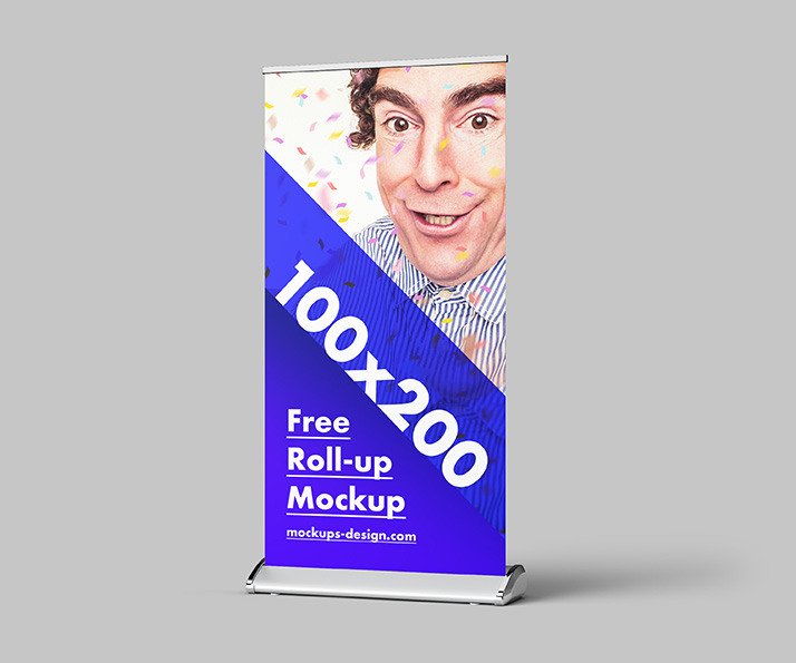 Free roll-up mockup