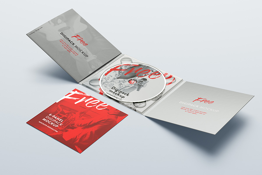 Free 6 panel digipack mockup