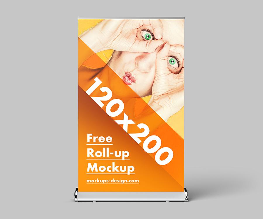 Free roll-up mockup / 120x200 cm