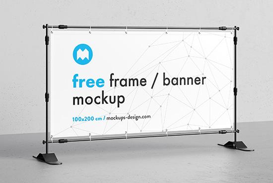 Free banner frame / stand mockup