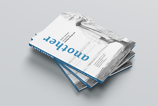 Free A4 hardcover book mockup