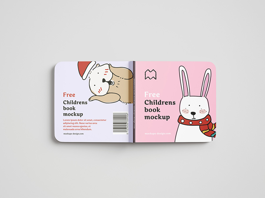 Free children's book mockup