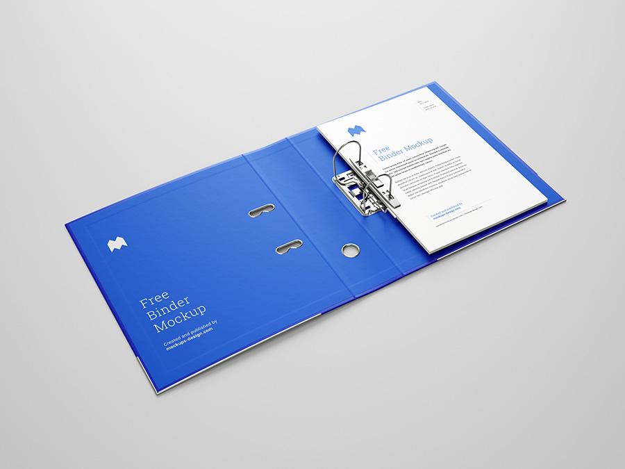 Free binder mockup