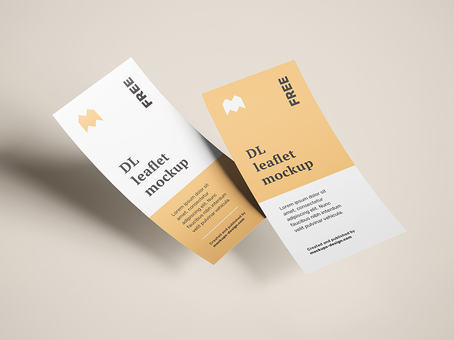 Free flying DL leaflet mockup