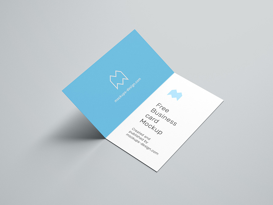 Free Folded Business Card Mockup 90x50 Mm Mockups Design Free Premium Mockups