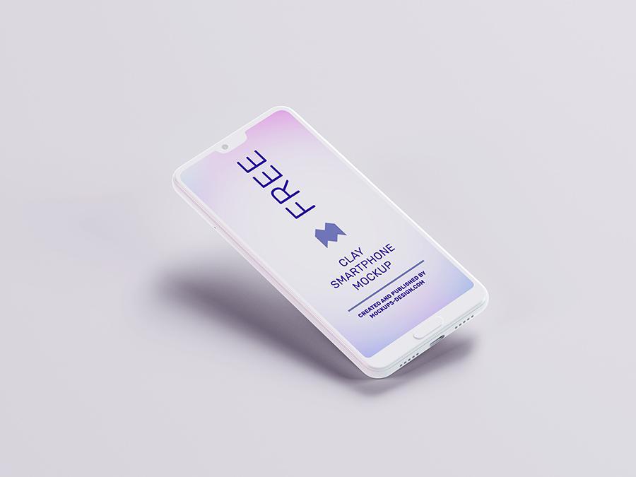Free clay smartphone mockup