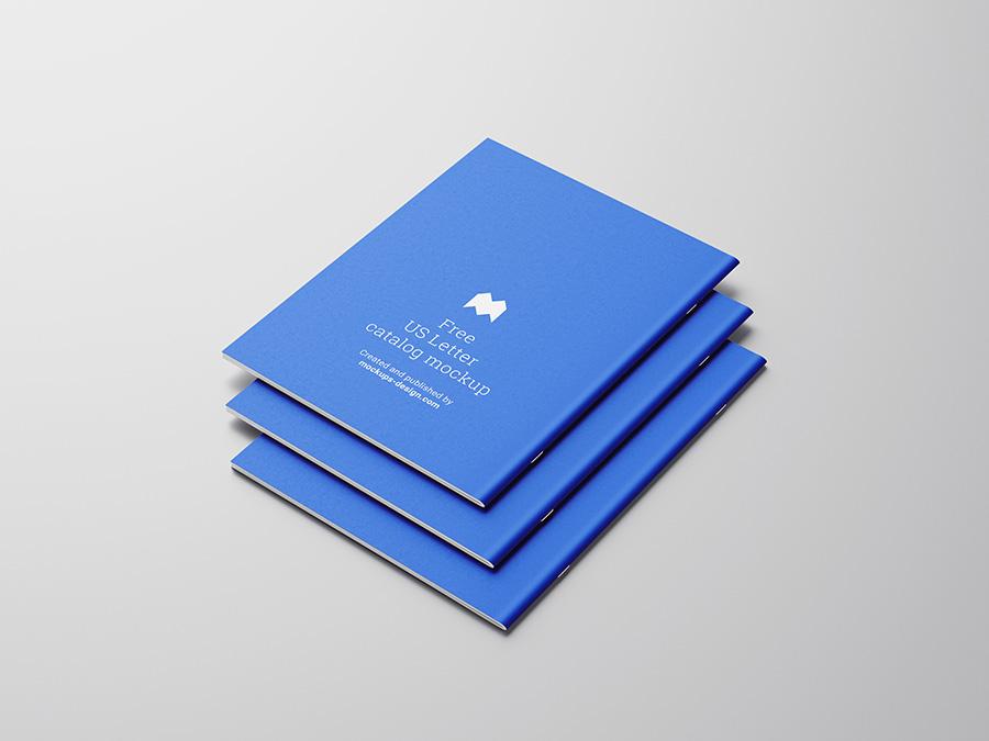 Free US letter catalog mockup