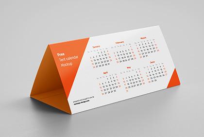 Free DL tent calendar mockup