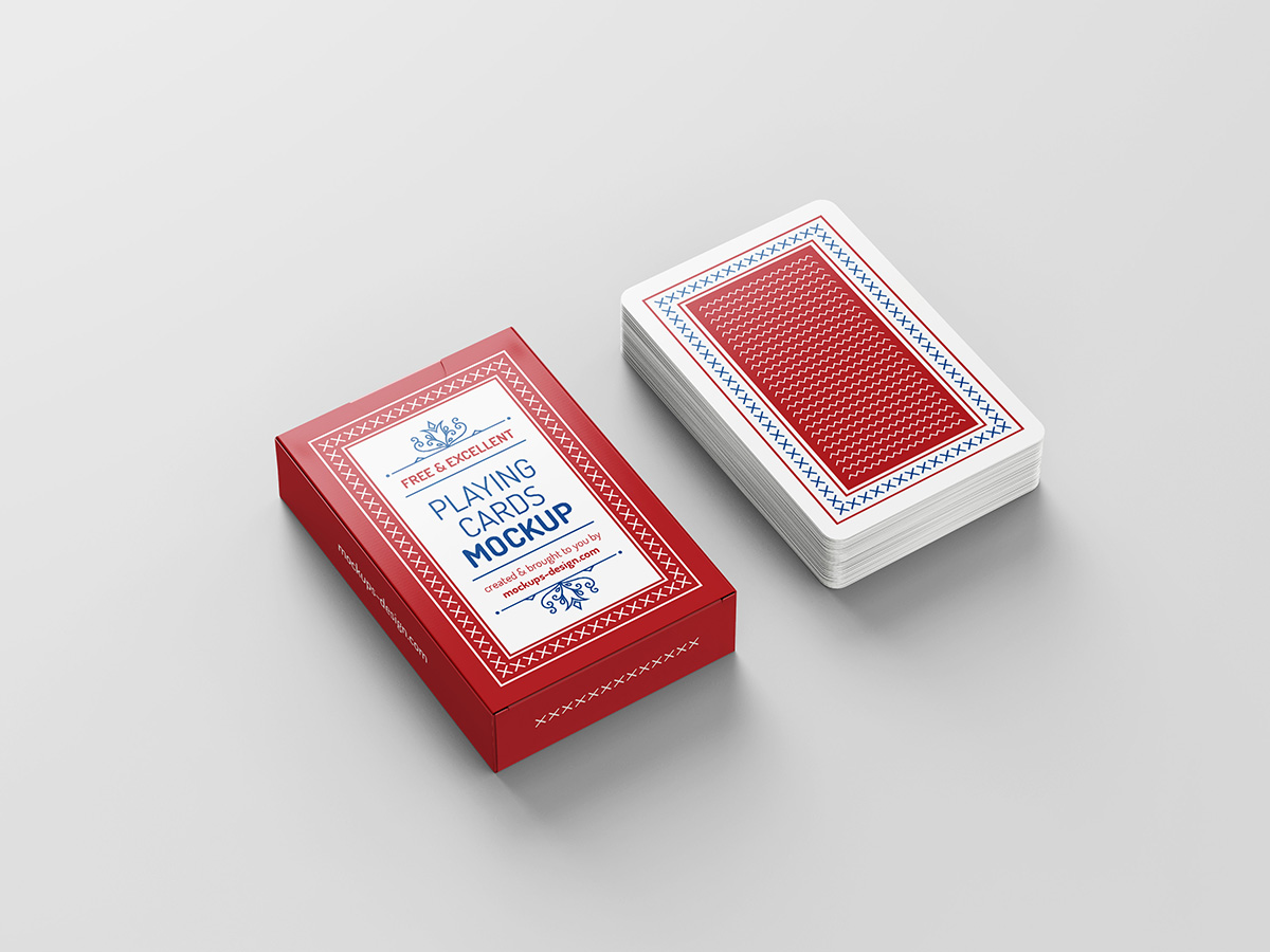 Free playing cards mockup