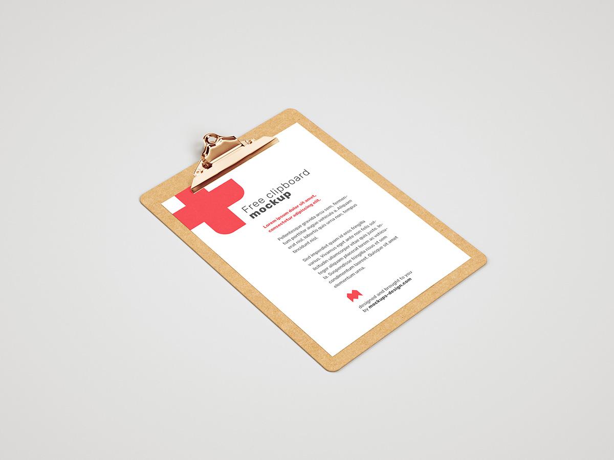 Free clipboard mockup