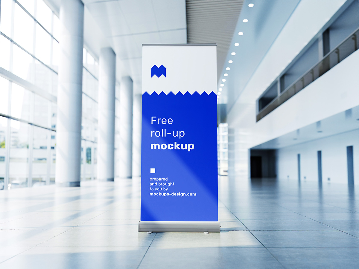 Free roll up mockup