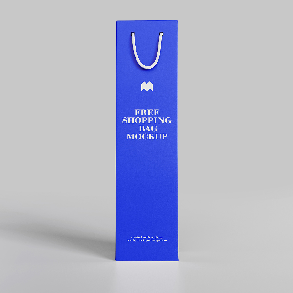 Free wine bag mockup