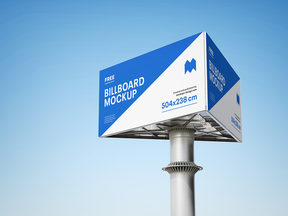 Free triple billboard mockup