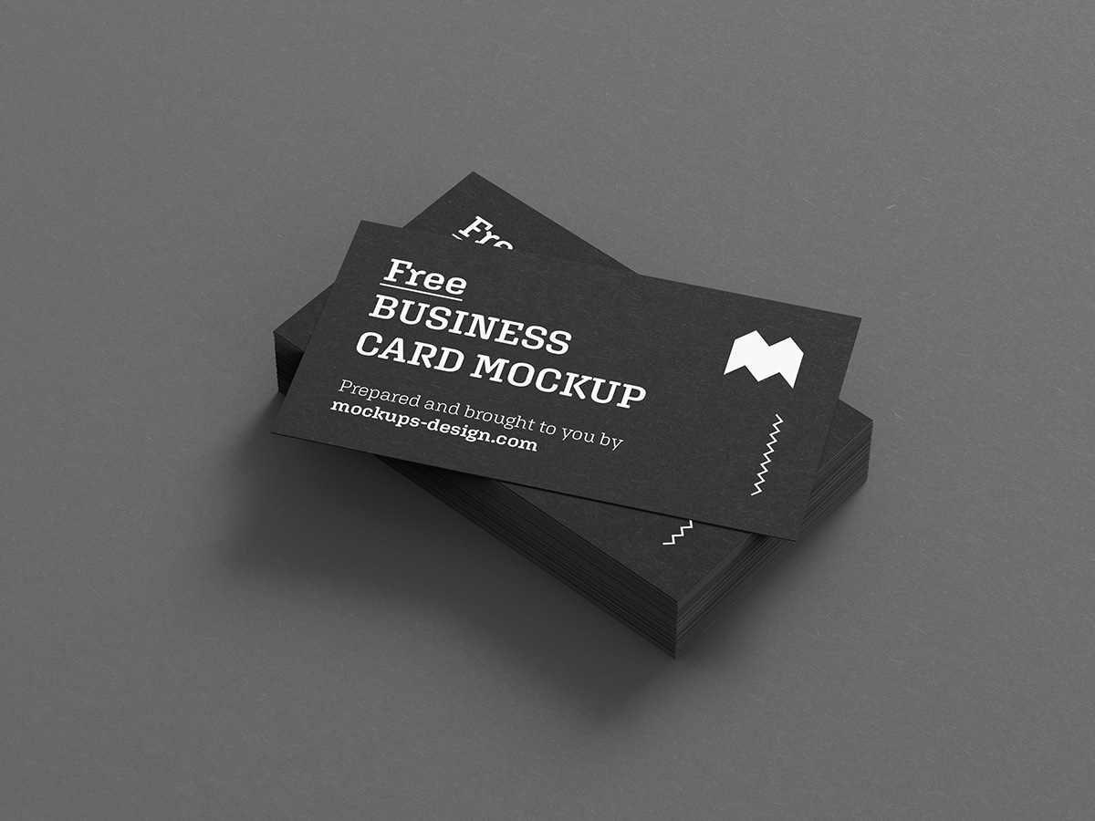 Free business cards mockup - Us Format